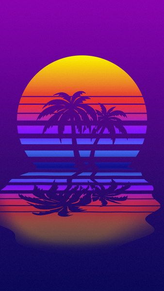 Palm Tree Synthwave Retrowave Digital Art 4k Click Image For Hd Mobile And Desktop Wallpap Vaporwave Wallpaper Palm Trees Wallpaper Retro Wallpaper Iphone