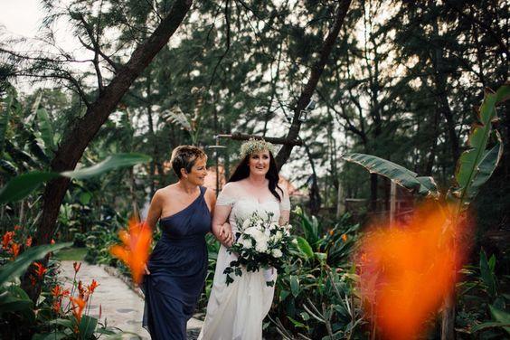 Unstructured Bouquet with dark greens and white. #HoiAnEventsWeddings #VietnamBeachWeddings