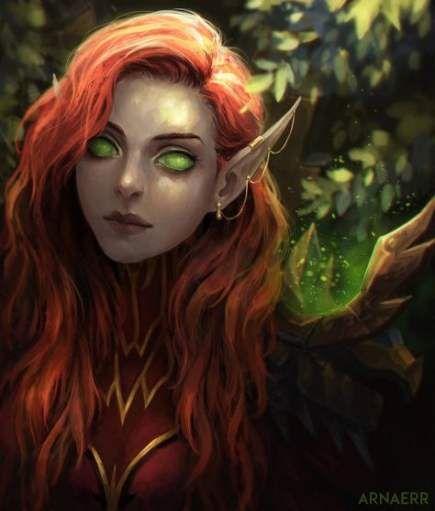 Super Hair Red Fantasy Deviantart Ideas Elf Art Warcraft Art Elves Fantasy