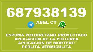 Canalones de aluminio en Murcia 687938139: ESPUMA POLIURETANO PROYECTADO POLIUREA  PURA MURCI...