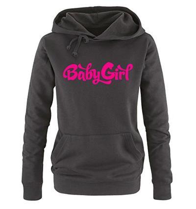 Comedy Shirts - Baby Girl - Criminal Minds - Damen Hoodie - Schwarz / Pink Gr. XL #sweater #offduty #girls #covetme #comedyshirts
