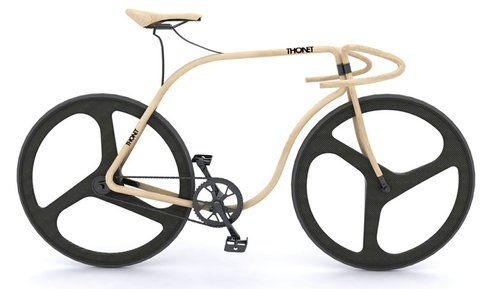 Gorgeous wooden bike.