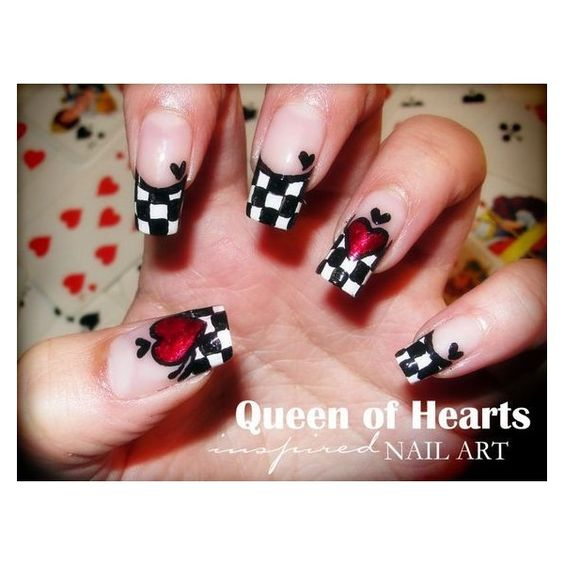 Queen of Hearts Nails ❤ liked on Polyvore featuring beauty products, nail care, nail treatments and nails