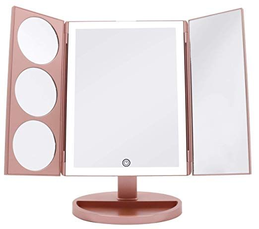 Milzie Makeup Vanity Mirror With 44 Natural White Led Lights 3x