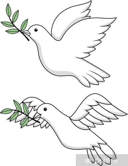Vinilo Pixerstick Paloma De La Paz Pixers Vivimos Para Cambiar Paloma De La Paz Dibujos De Palomas Dibujos De La Paz