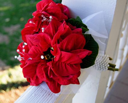 Poinsettia Wedding Bouquets Source 1812hpblog