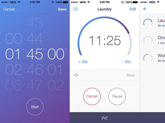 Timer+ for iOS 7 - by Matt D. Smith   #ui