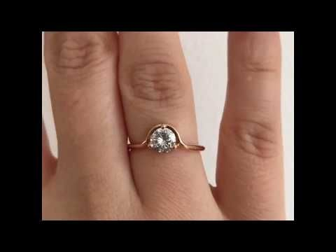 Grey Diamond Engagement Ring In Rose Gold Grey Diamond