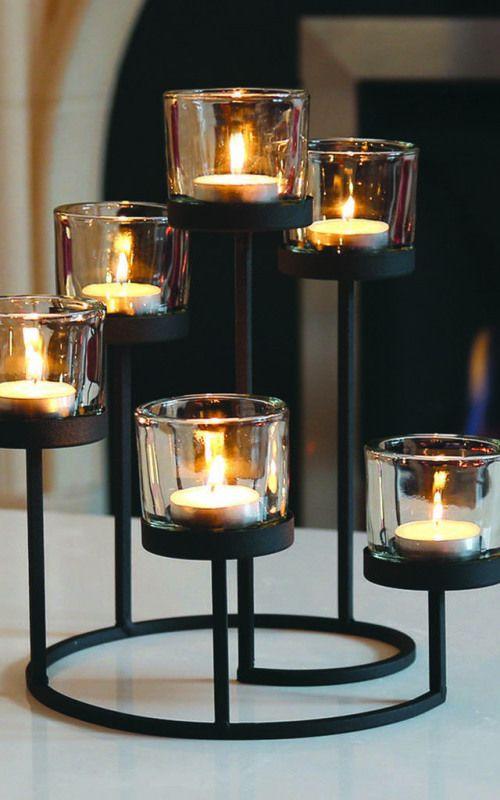 Crystal Tealight Holder Candle Holder 4 Tea Lights Tealight Holder Tea Light Bar