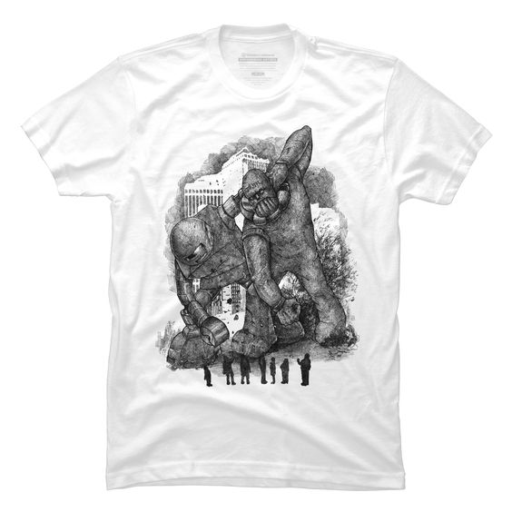 Robot Vs Golem Men's T-Shirt
