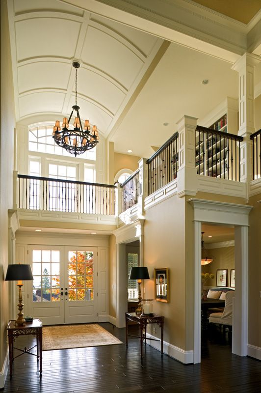 Grand Foyer Ceiling : Wrought iron balconies and living rooms on pinterest