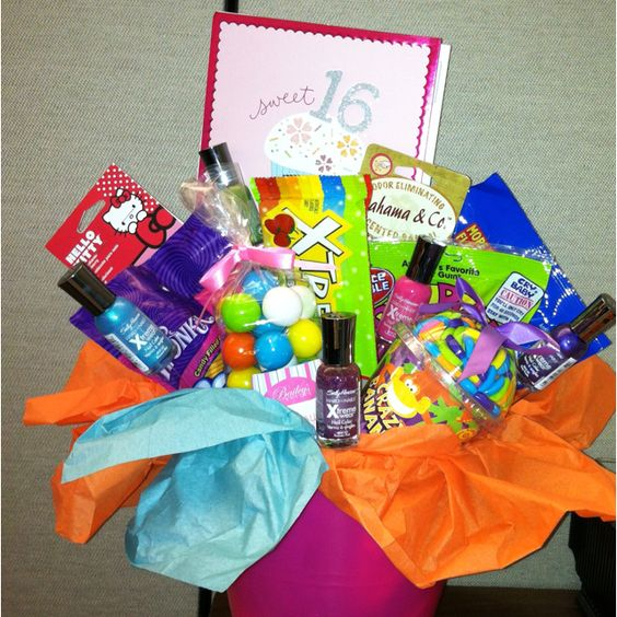 """""""Sweet"""" 16 Birthday Basket I Made For My Niece- Full Of"""