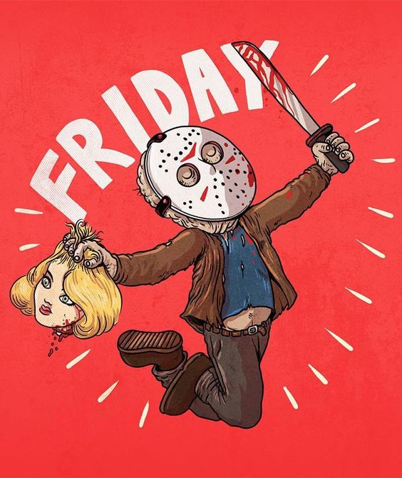 Illustration by @alexmdc Woot woot #fridaythe13th! http://ift.tt/16Wfb3Q Digital Books | Vectors | Fonts | Art Supplies by illustratedmonthly