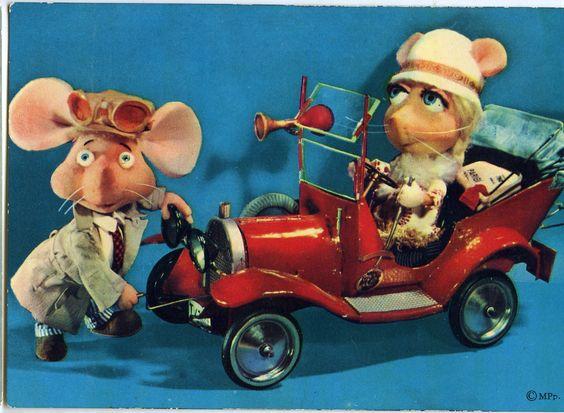 Topo Gigio e Rosy (cartolina)