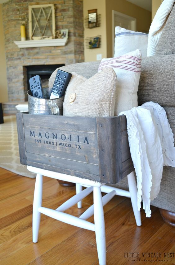 5 Ways to Style a Wooden Living Room Farmhouse Cubby: