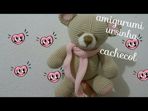 Ursinho de Cachecol!! #amigurumi #croche #maternidade ... | 360x480