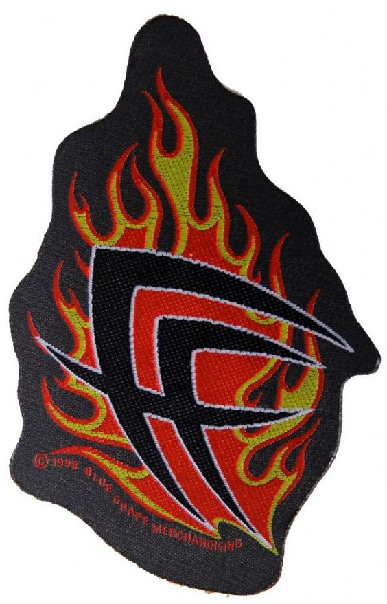 Official Fear Factory Sew-on patch measuring approx 110mm x 75mm featuring the Cut-out Flames Logo design Officially Licensed Merchandise View more