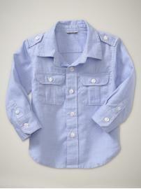 pinstriped pocket shirt [roman getaway - gap]