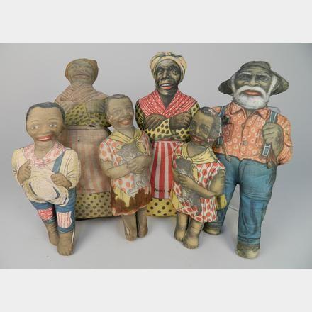 6 Aunt Jemima cloth dolls   Rachel Davis Fine Arts