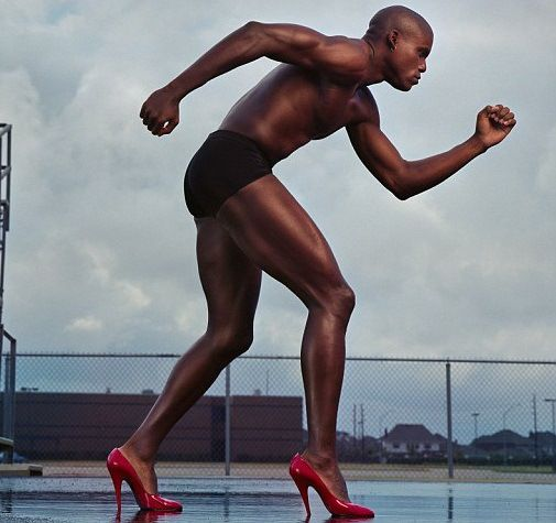 Gold Medalist Carl Lewis Rocks Red-Hot Heels in Annie Leibovitz's New Book