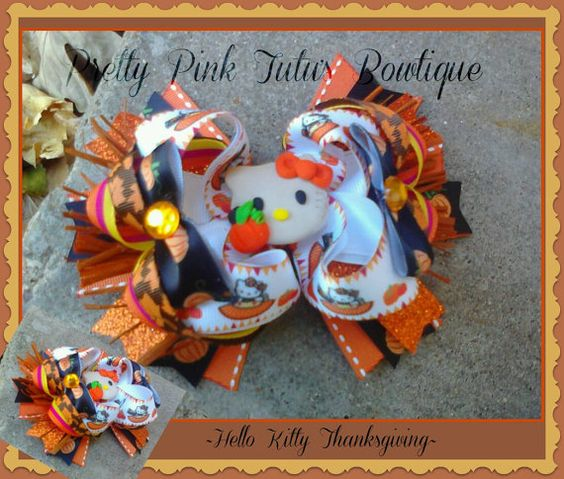 Thanksgiving Bows by PrettyPinkTutusBowti on Etsy, $7.00