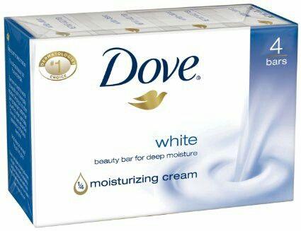 dove white beauty bar moisturizinq cream soap.