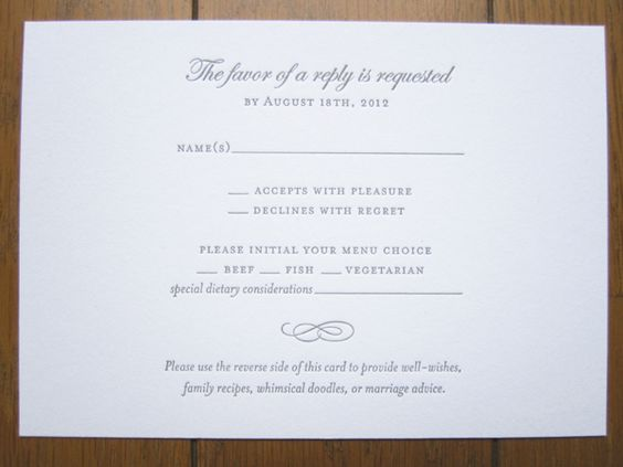 What Needs To Be Included In A Wedding Invitation: Rsvp With Meals And Dietary Needs, We Need To Add An Rsvp