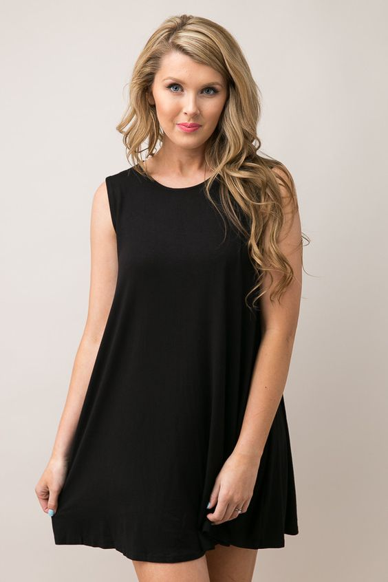 Pure and Simple Black Dress