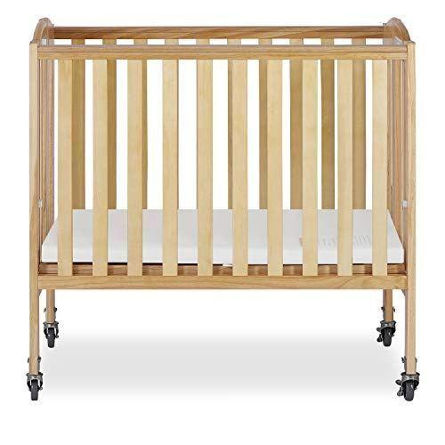 Dream On Me 2 In 1 Folding Birch Portable Crib Natural Portable Crib Cribs Kid Room Decor
