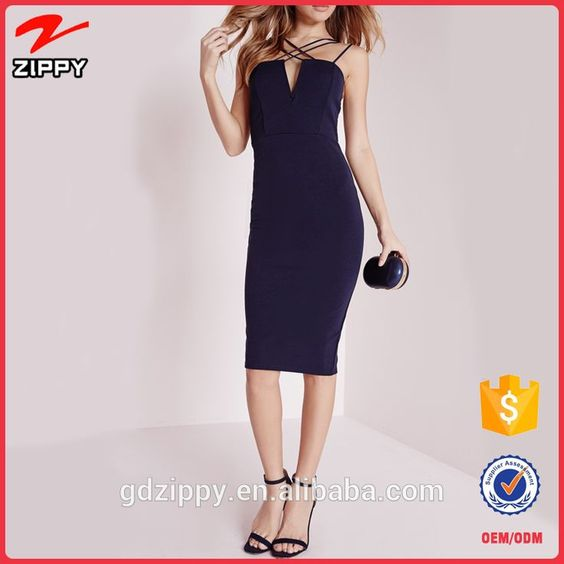 Wholesale Double Strap Cross Over Detail Bodycon Dress Night Dress For Women #dress, #bodycon
