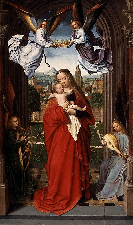 Virgin and Child with Four Angels  Gerard David   c1510-15: