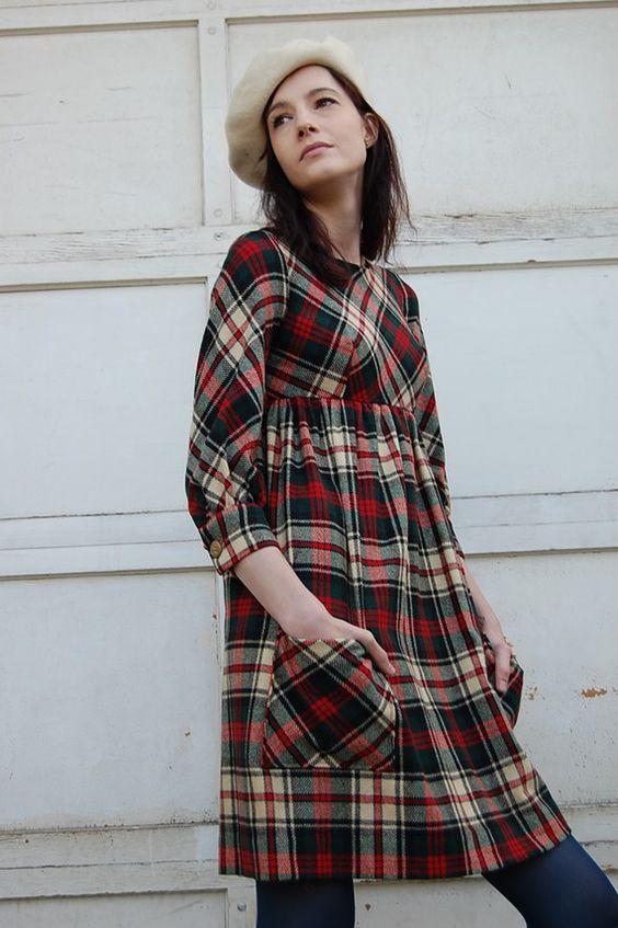 Canada Goose coats outlet 2016 - Vintage 60s Tartan Plaid Wool Babydoll Dress | Plaid, Tartan Plaid ...