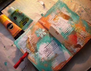 "Art Journal Café: AJC : Challenge "" technique"""