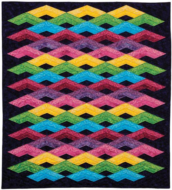 Tonga Zigzag- Diamond Mine Timeless Treasures - Quilt Pattern by Karen Montgomery This is ...