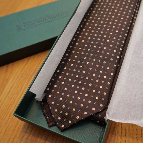 Opening a fresh tie is the best feeling.