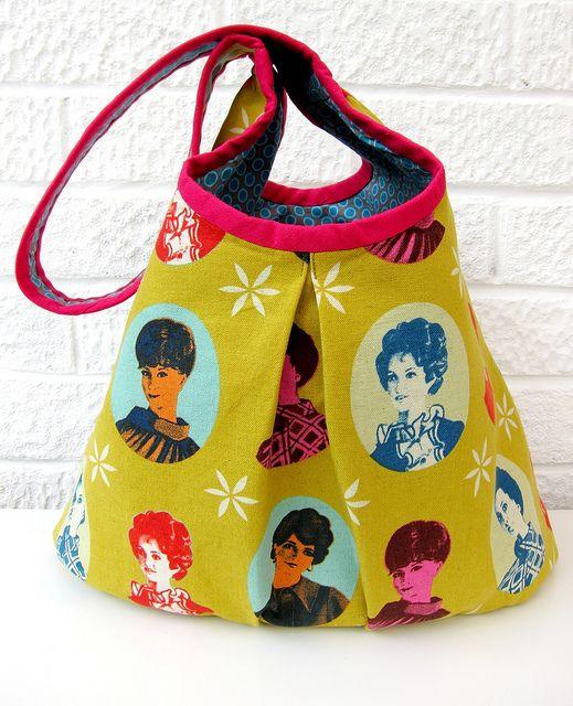 very berry handmade's version of my runaround bag pattern using melody miller fabric!