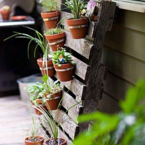 deko ideen selbermachen pflanzenbehälter paletten garten, Garten und erstellen