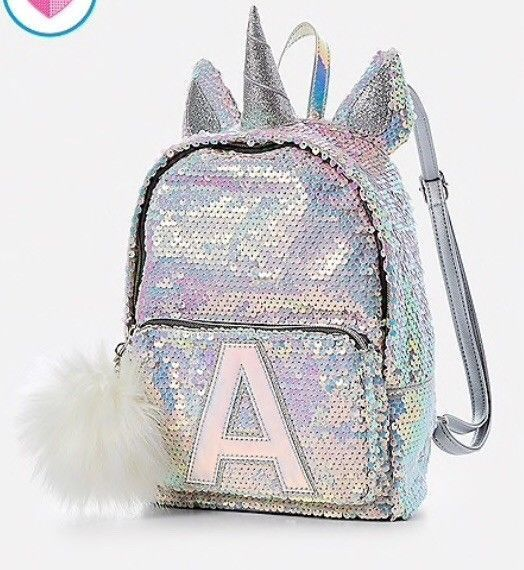 Justice Unicorn Initial Flip Sequin Mini Backpack Sequin Unicorn Backpack Unicorn Backpack Mini Unicorn Backp Mini Backpack Cute Mini Backpacks Sequin Mini