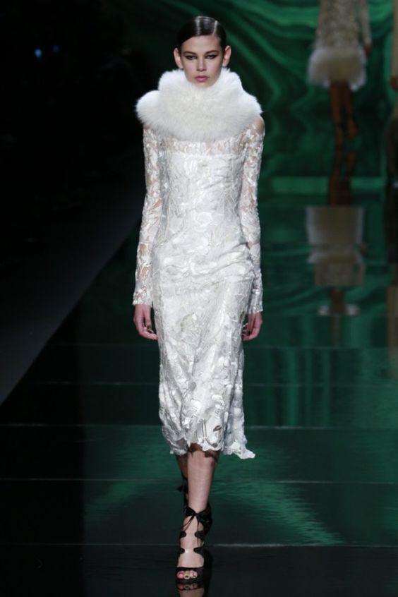 New York FW Monique Lhuillier Fall 2013 / Beautiful (slightly) Nontraditional Wedding Dress Option