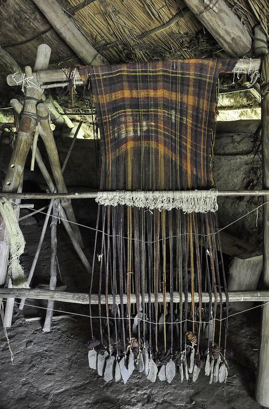 """Castell Henllys. """"The Iron Age Celts' clothes might have looked like the tartan you see in Scotland and Ireland today, with checks and stripes. The Celts used berries and plants to dye the wool different colours.""""-BBC"""