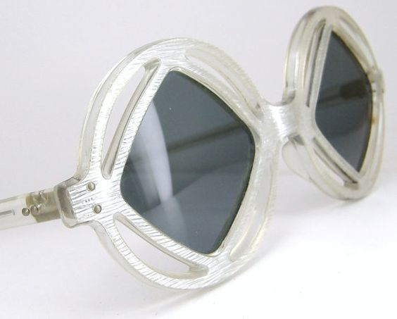 Vintage French 60s Space Age Sunglasses by Vintage50sEyewear, $84.00