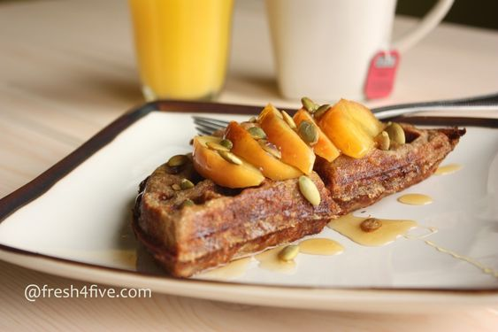 Apple Cinnamon Waffles. Gluten Free.