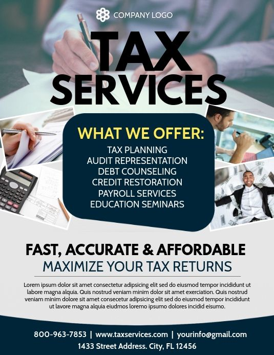 Tax Flyers Income Tax Preparation Tax Services Tax Consulting
