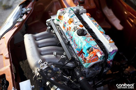 sick engine bay valve cover art mike paz 1999 honda civic si autos pinterest beautiful. Black Bedroom Furniture Sets. Home Design Ideas