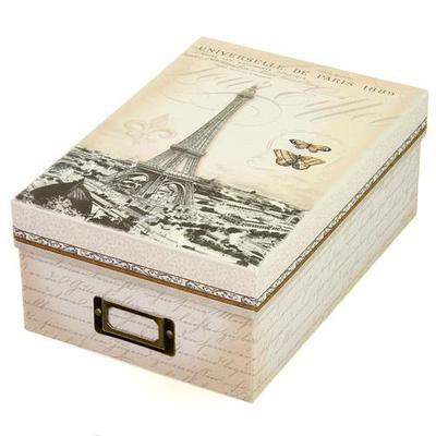 ストレージBOX タワーエッフェル [PunchStudio]パンチスタジオ フォトボックス 小物入れ・ラッピング・ギフトボックス  ■サイズ:20x28.5x11.5(高さ)cm  ■付属:インデックスカード10枚入り  18x10.75(高さ)cmx10枚  18x9.5cmにインデックスの出っ張りがあるイメージです。 ■生産:中国
