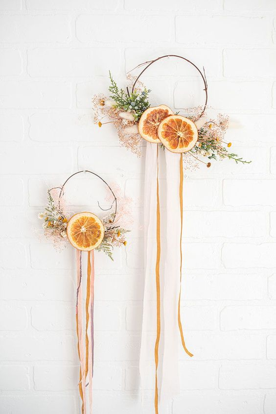 Dried Fruit Wreath with Dried Orange Slices from Afloral.com. . . Designed by @lifesfrostings