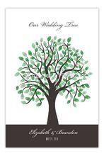 40 x 60 CM árbol de la boda libro de visitas árbol de huellas dactilares boda libro de visitas personalizar decoración de la boda(China (Mainland))