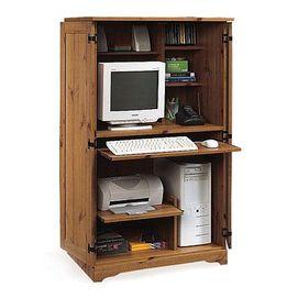 sauder md armoire pour ordinateur sears rangement. Black Bedroom Furniture Sets. Home Design Ideas