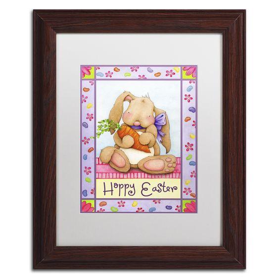 Jennifer Nilsson 'Bunny and Beans' Matted Framed Art