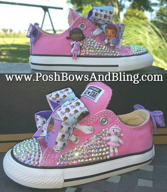 Custom Doc McStuffins Bling Converse Sneakers by PoshBowsAndBling